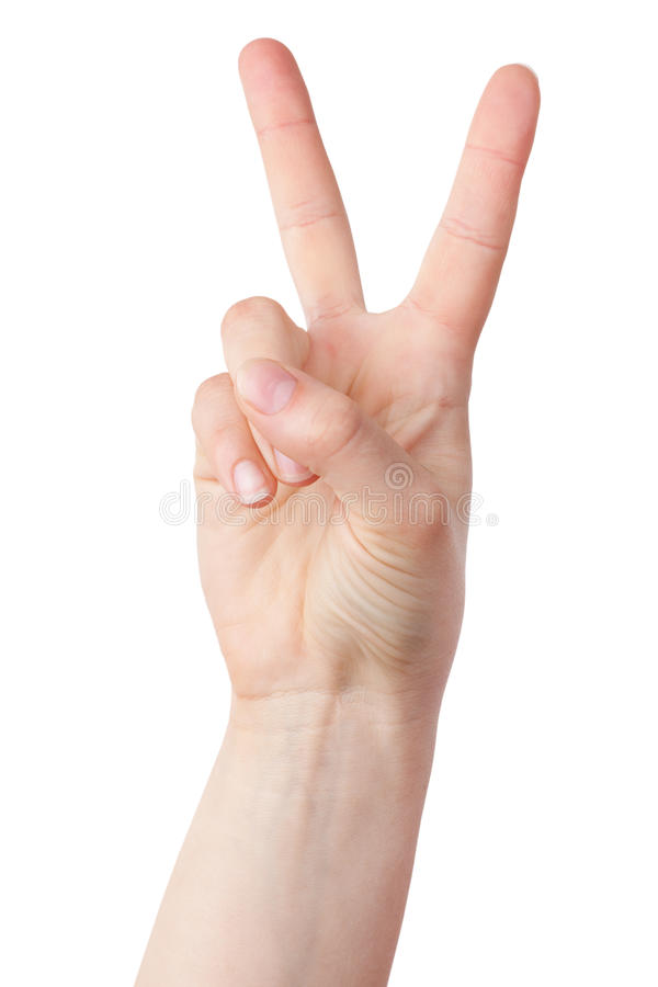 Download The Victorious Gesture, Folded His Fingers Stock Photo - Image: 25576248