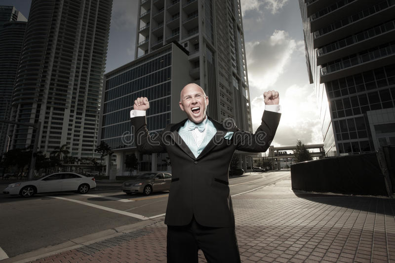 Download Victorious man stock image. Image of outside, outstretched - 11320203