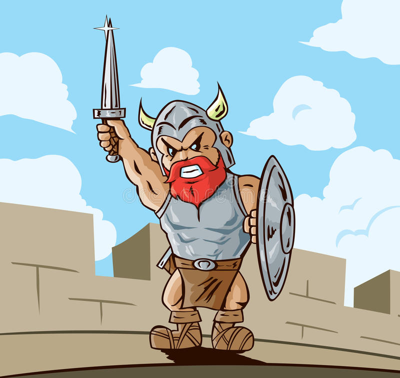 Download Victorious Viking stock vector. Image of castle, angry - 32191575