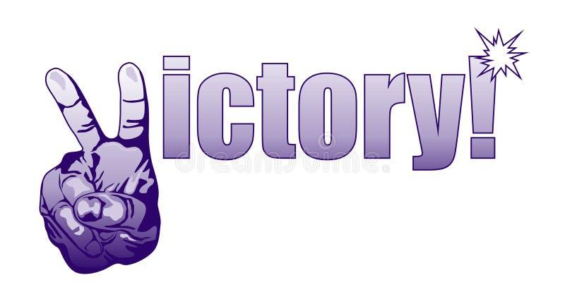 Victory! stock illustration