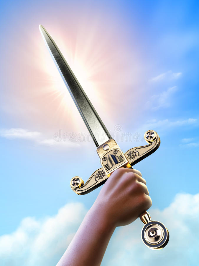 Download Victory stock illustration. Image of dagger, grip, blade - 18787108