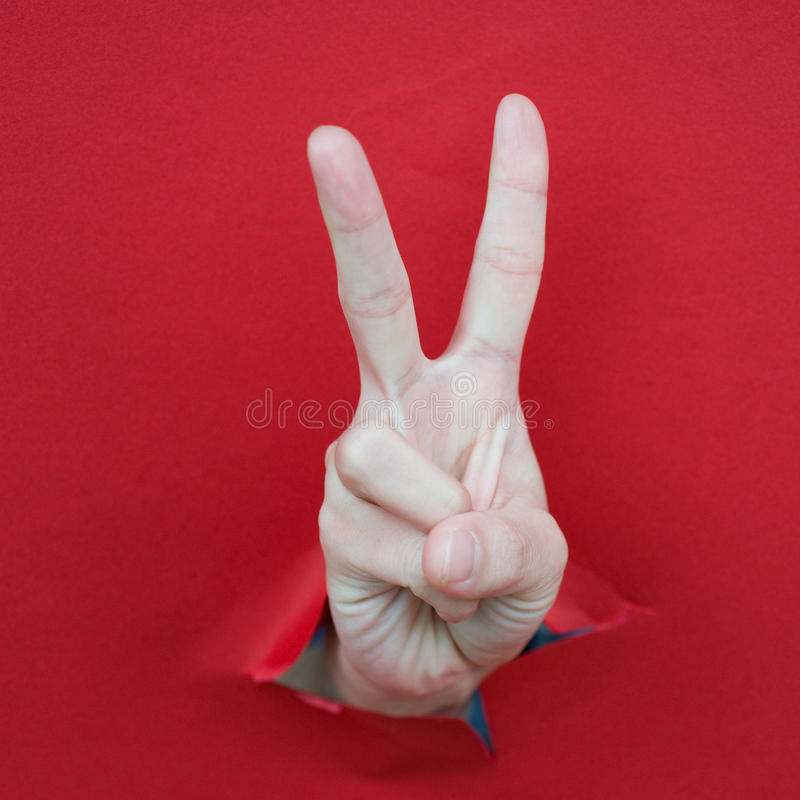 Download Victory stock photo. Image of caucasian, gesturing, hand - 24023068