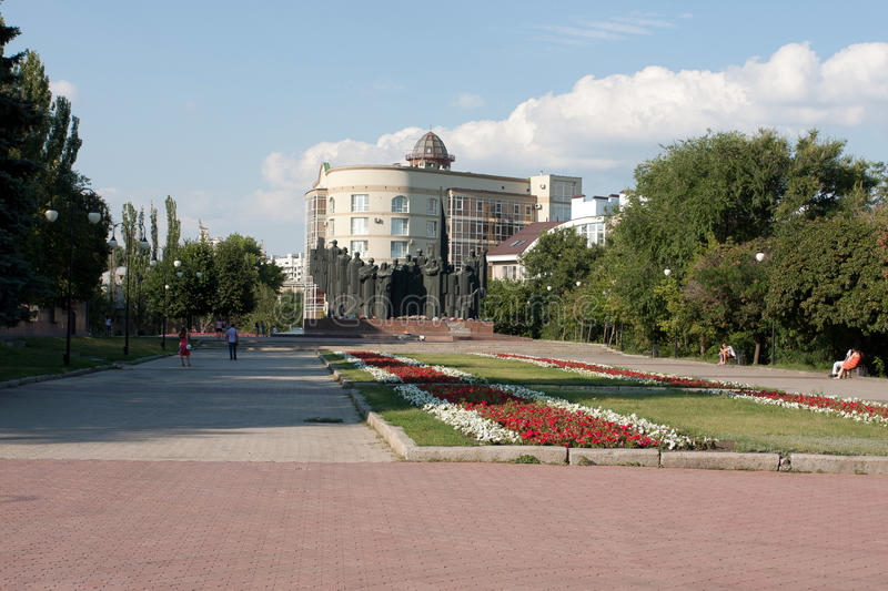Victory Avenue. In Voronezh. Russia. Summer sketch royalty free stock photography
