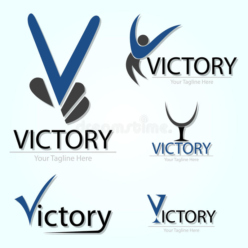 Victory In Blue stock illustration
