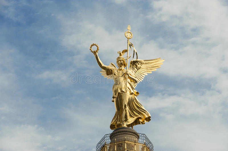 Victory column in Berlin, Europe royalty free stock photography