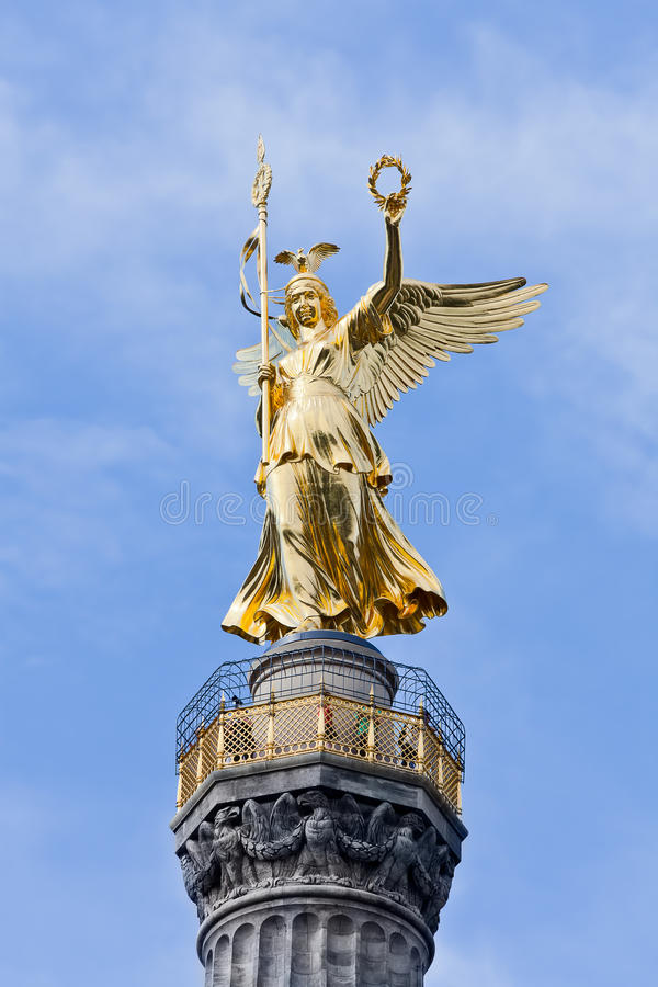 The Victory Column berlin germany. The Victory Column in berlin germany stock photos