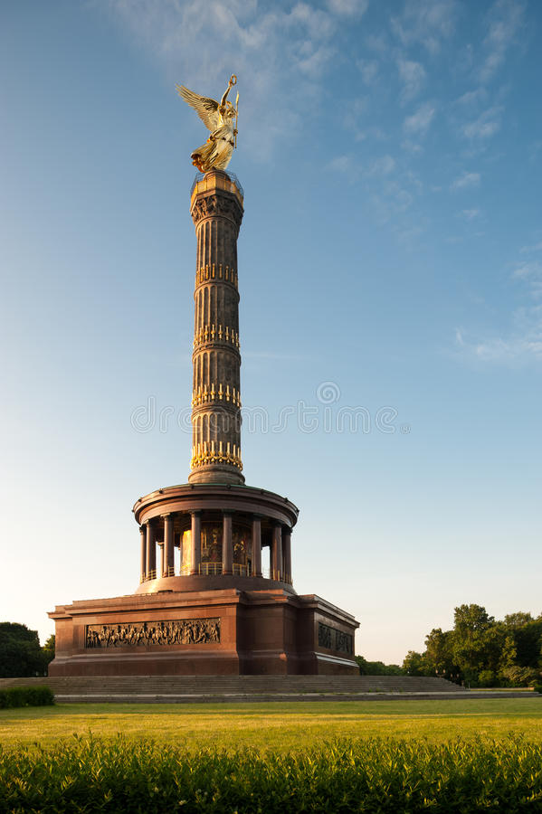 The Victory Column, Berlin, Germany. The Victory Column with golden Angel on top. Berlin, Germany stock image