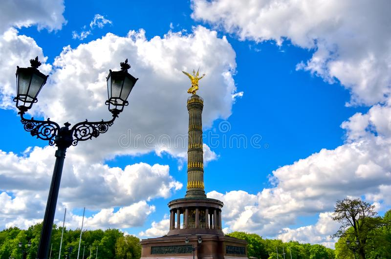 Victory Column in Berlin, Germany. The Victory Column located in the Tiergarten in Berlin, Germany stock image