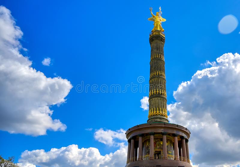 Victory Column in Berlin, Germany. The Victory Column located in the Tiergarten in Berlin, Germany stock photos