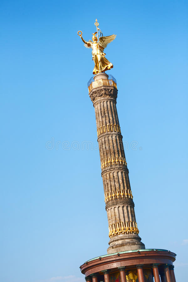 The Victory Column in Berlin, Germany stock photo