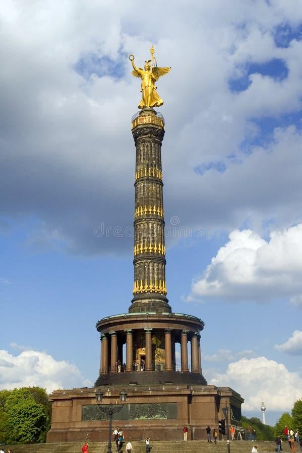 Victory column in Berlin landmark. Blue sky stock photo