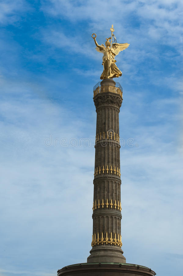 Victory column in Berlin, Siegessaeule Angel of Berlin royalty free stock photography