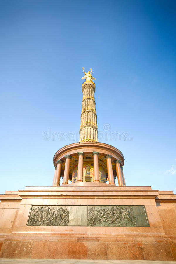 The Victory Column in Berlin on a summer day stock photos