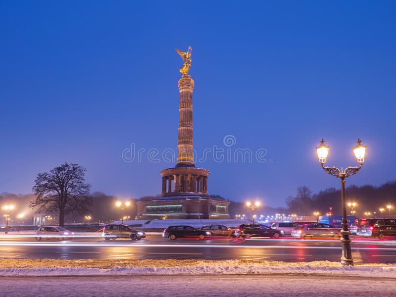 Victory Column em Berlim fotografia de stock
