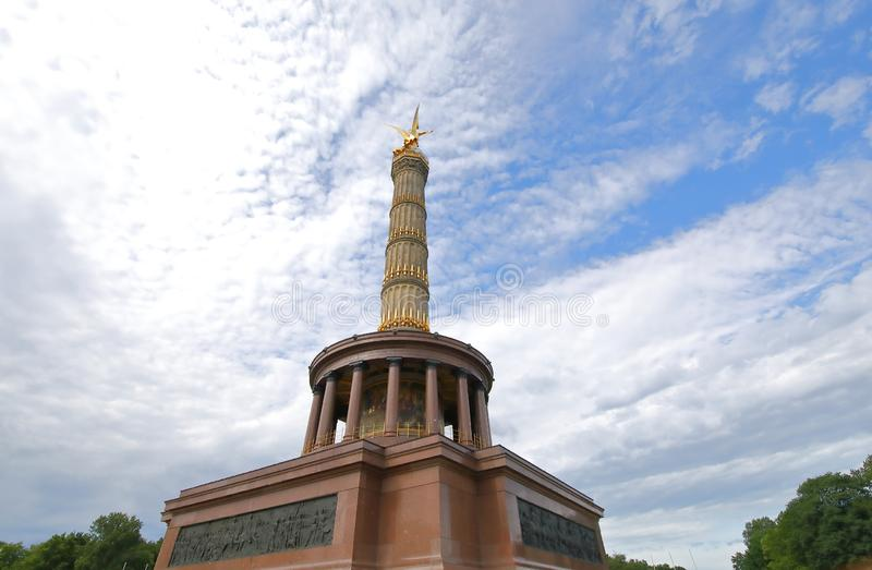 Victory Column historical monument tower Berlin Germany. Victory Column historical monument tower in Berlin Germany royalty free stock photos