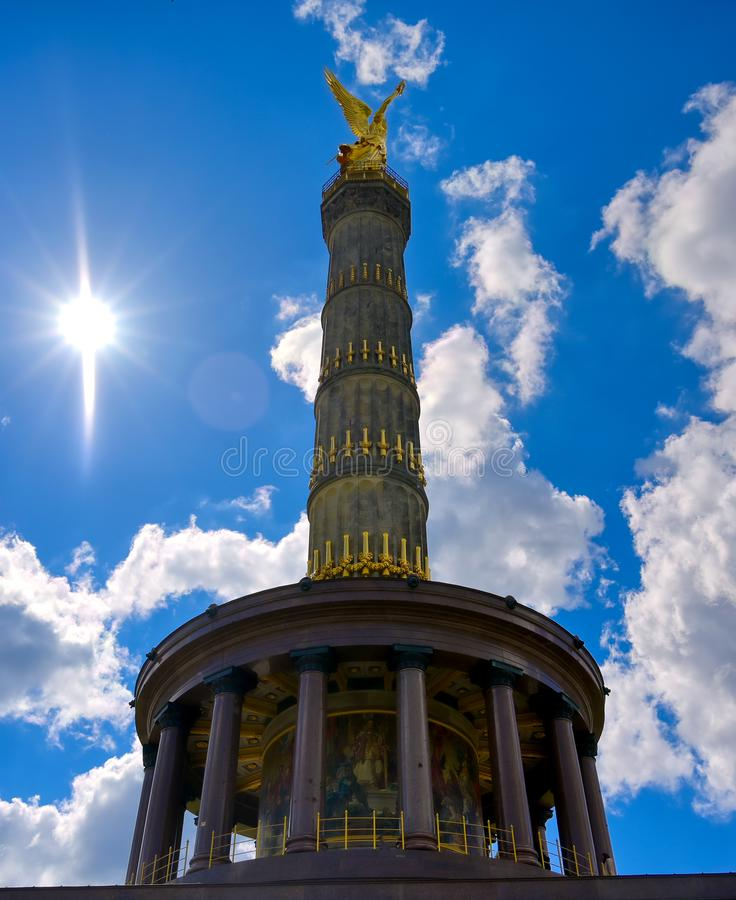 Victory Column in Berlin, Germany. The Victory Column located in the Tiergarten in Berlin, Germany royalty free stock image