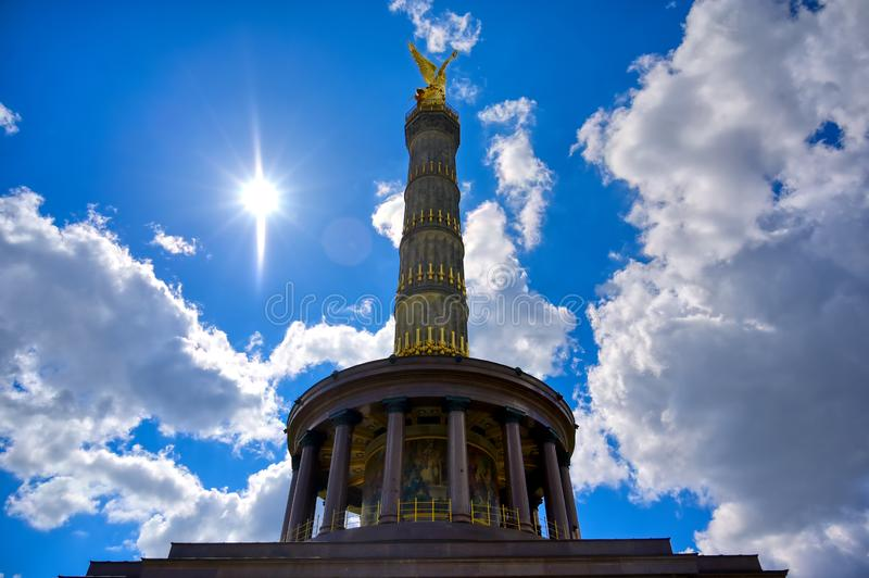 Victory Column in Berlin, Germany. The Victory Column located in the Tiergarten in Berlin, Germany stock photography