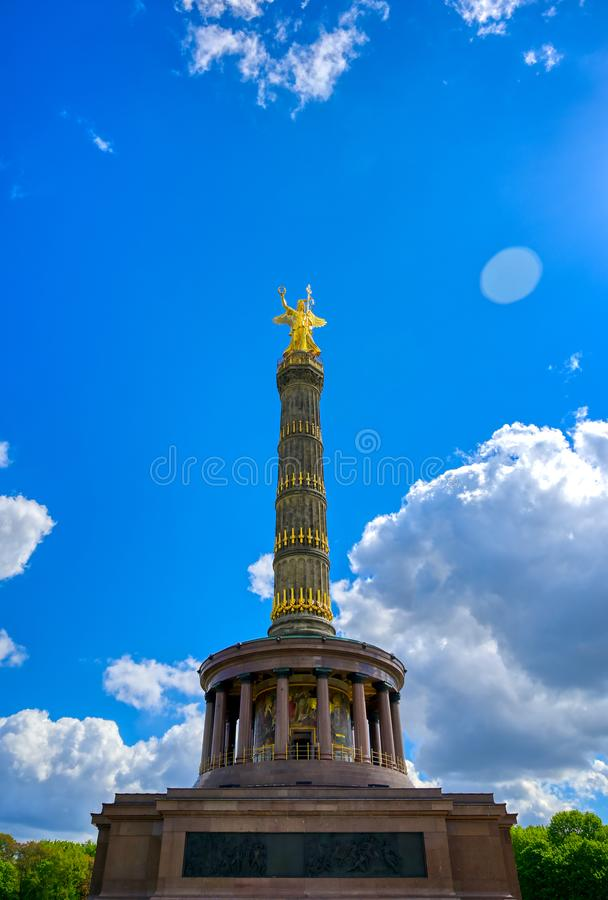 Victory Column in Berlin, Germany. The Victory Column located in the Tiergarten in Berlin, Germany royalty free stock photos