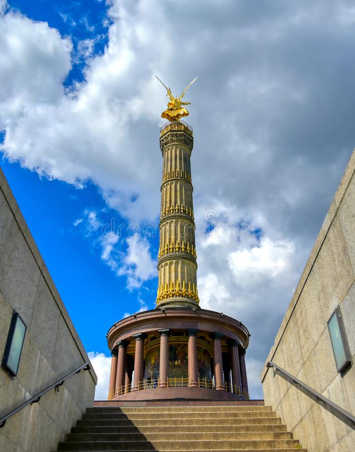 Victory Column in Berlin, Germany. The Victory Column located in the Tiergarten in Berlin, Germany royalty free stock photo