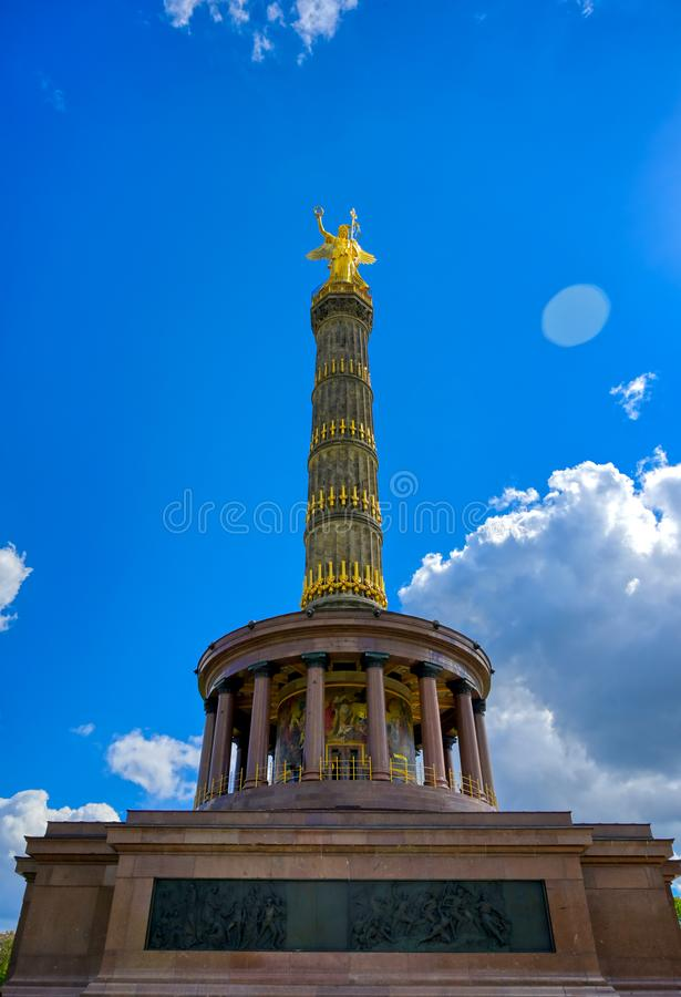 Victory Column in Berlin, Germany. The Victory Column located in the Tiergarten in Berlin, Germany stock images