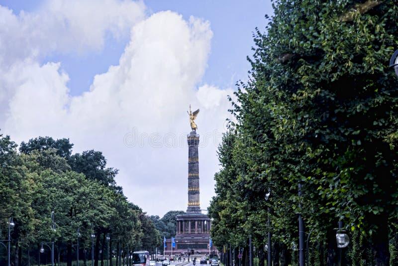 Victory Column of Siegessäule zijn een beroemd gezicht in Berlijn royalty-vrije stock foto's