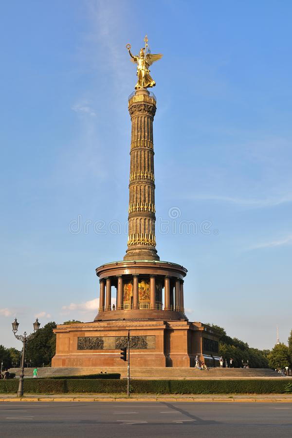 Victory Column Siegessäule, Berlin, Germany Deutschland. The Victory Column German: Siegessäule is a monument in Berlin, Germany. Designed by Heinrich stock image