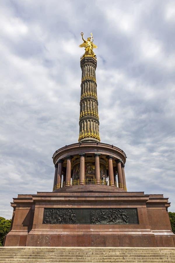 Victory Column Siegessaeule i Berlin, Tyskland arkivfoto