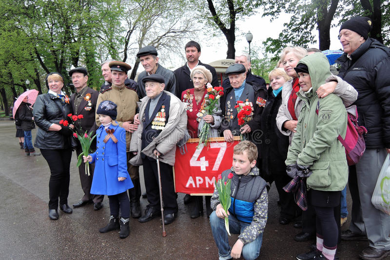 Victory Day celebration in Moscow. royalty free stock photography