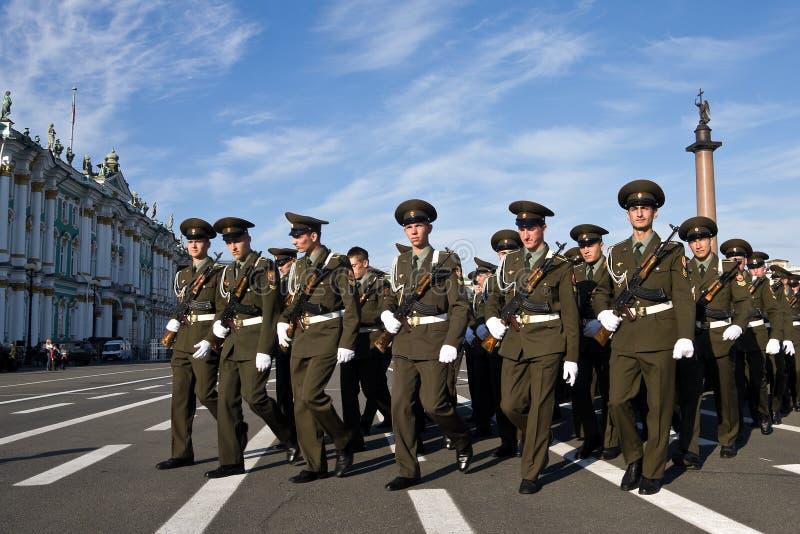 Victory Day parade rehearsal stock photos