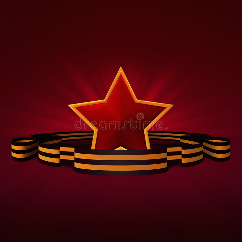 Victory day Red Star stock photos