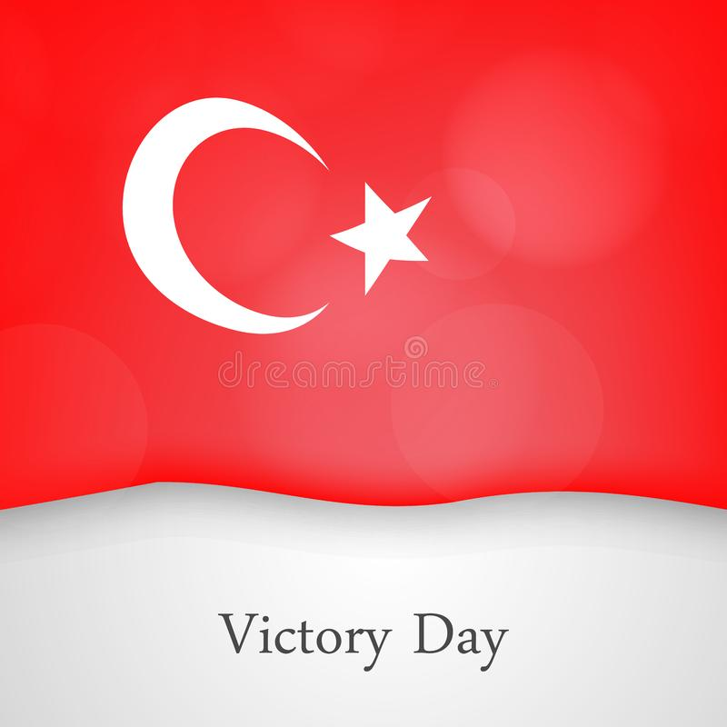 Victory Day in Turkey Background royalty free illustration