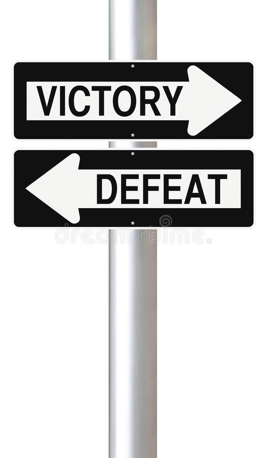 Download Victory or Defeat stock illustration. Image of direction - 34445441