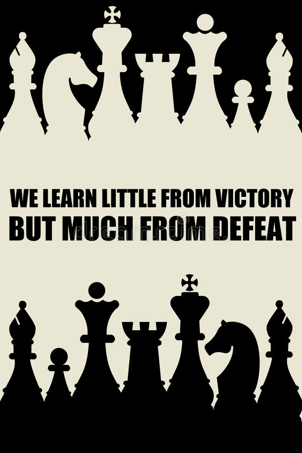 Victory defeat. Learning much from defeat but little from victory royalty free illustration