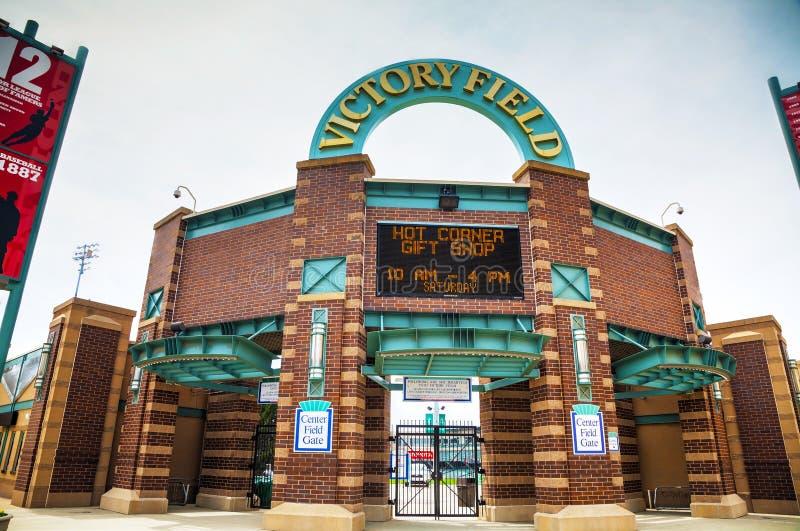 Victory Field Stadium i Indianapolis fotografering för bildbyråer