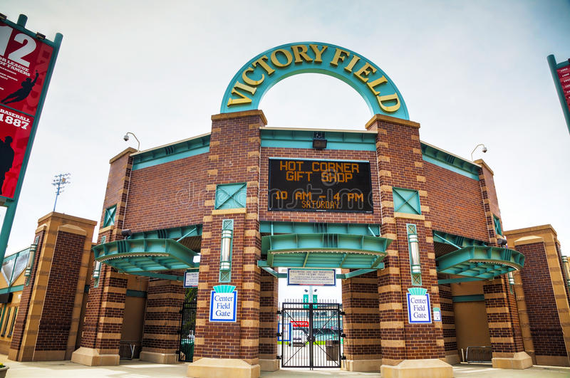 Victory Field Stadium in Indianapolis stock image