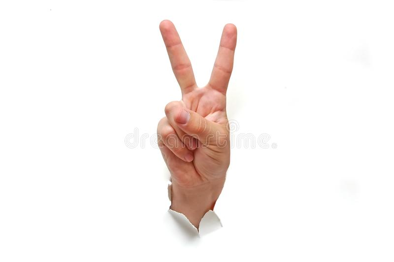 Download Victory Hand Sign Royalty Free Stock Photos - Image: 3000018