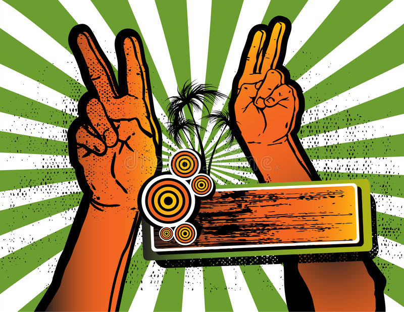 Download Victory- Hands Up For Party Stock Vector - Image: 5084573
