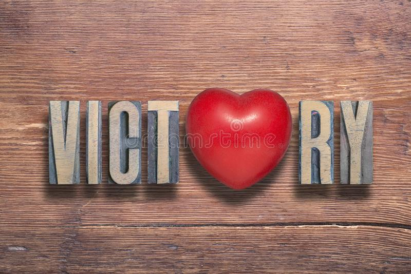 Victory heart wooden royalty free stock photos