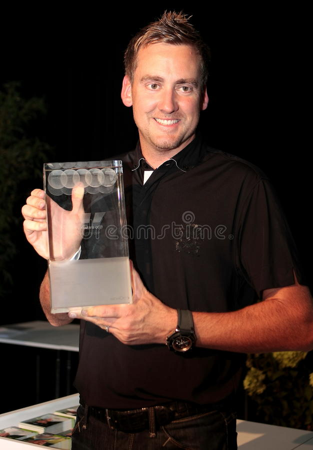 Victory for Ian Poulter in Germany. royalty free stock photo