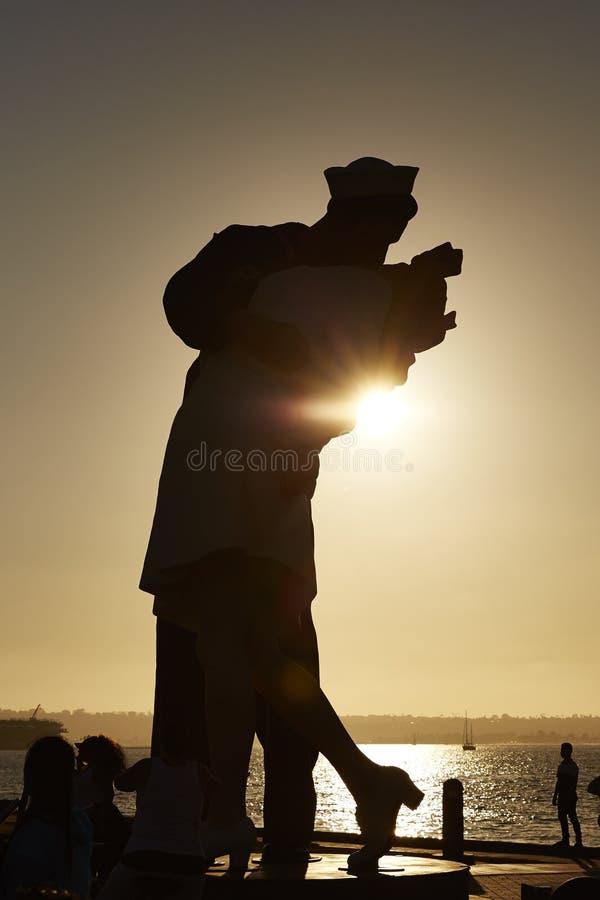 Victory Kiss Statue, San Diego stock afbeeldingen