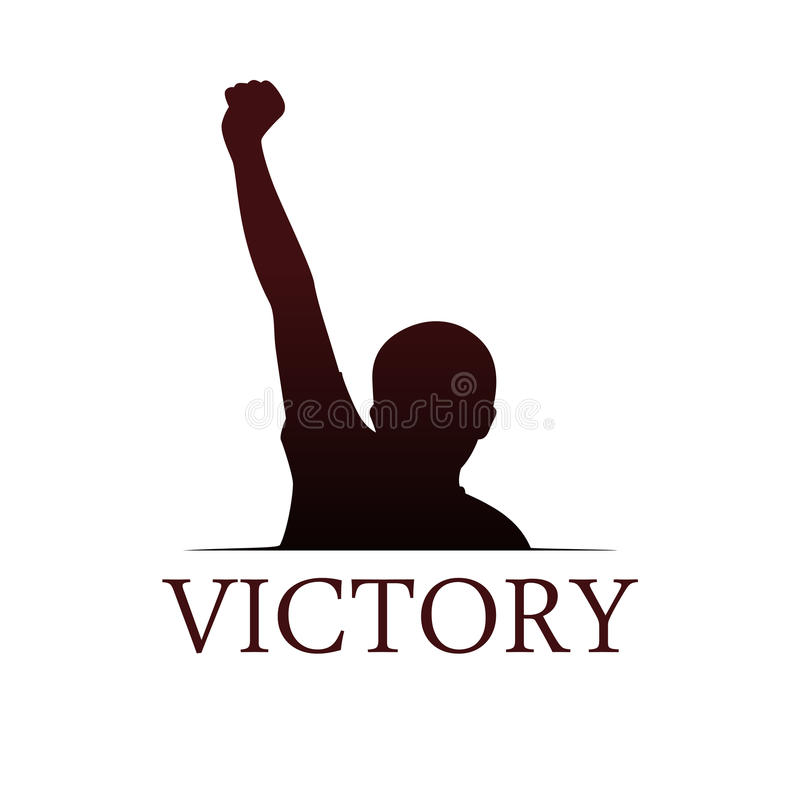 Victory logo template royalty free illustration