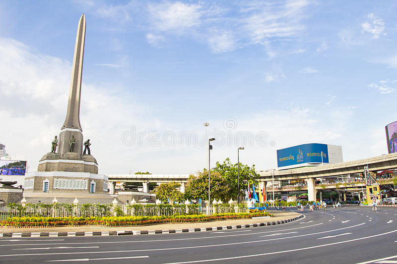 Victory Monument Center von Bangkok stockbilder