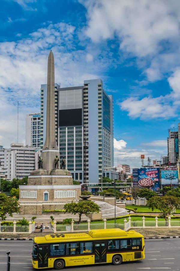 Victory Monument Center von Bangkok Thailand lizenzfreie stockfotos