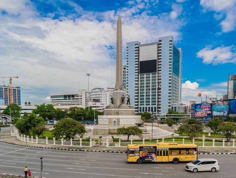 Victory Monument Center von Bangkok Thailand lizenzfreie stockbilder