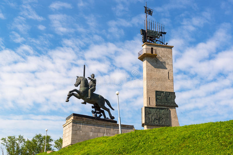 Victory Monument i Novgorod det stort, Ryssland royaltyfri foto