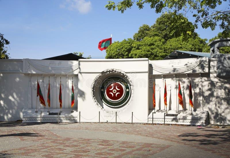 Victory Monument im Mann Republik der Malediven stockfotos