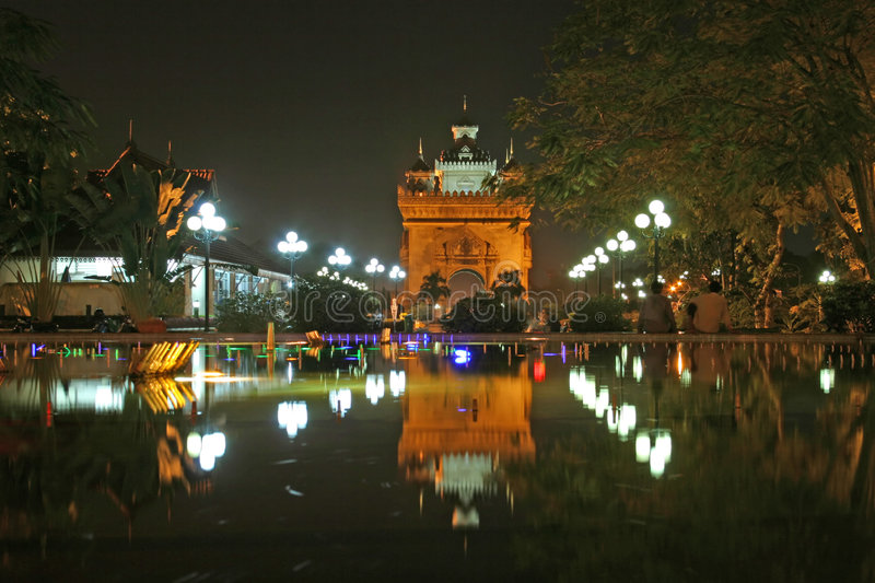 Victory Monument Reflection stock image