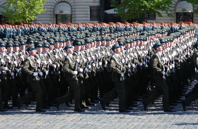 Victory parade stock photo