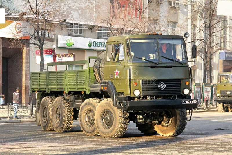 Victory Parade 2014 i Yekaterinburg, Ryssland arkivfoto