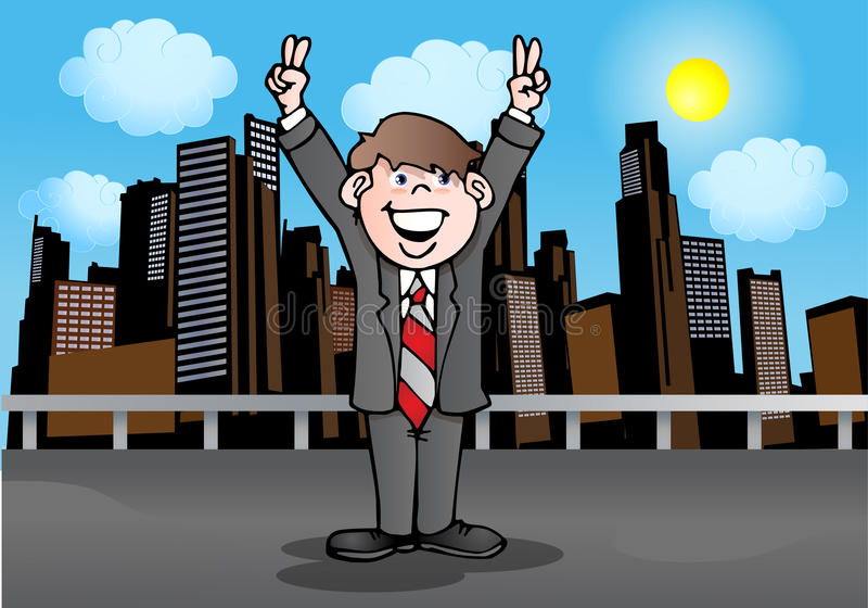 Download Victory pose stock illustration. Illustration of place - 20433232